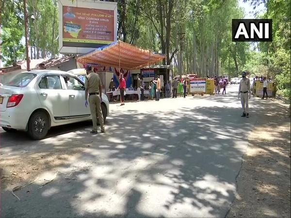 Visual from Aasarodi inter-state border check post in Uttarakhand. [Photo/ANI]