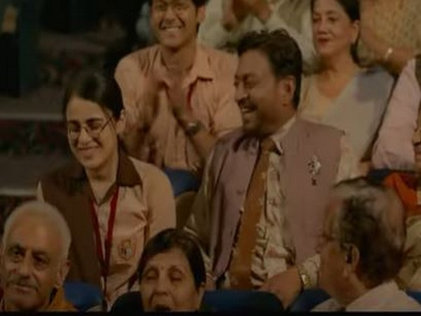 Actors Irrfan Khan and Radhika Madan in a still from 'Angrezi Medium' (Image Source: Youtube)