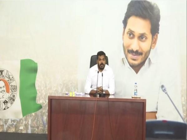 Andhra Pradesh Irrigation Minister P Anil Kumar speaking to media on Monday.