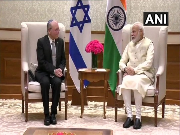 Israel's NSA Meir Ben Shabbat with Prime Minister Narendra Modi on Monday