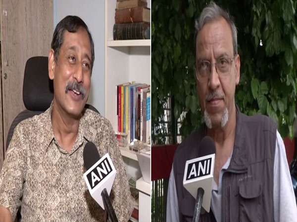 Former Space Scientit Pg Ghosh (left) and Scientist Amitabh Pandey (right) while speaking to ANI on Saturday. (Photo/ANI)