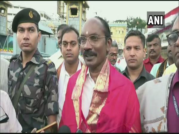 Indian Space Research Organisation (ISRO) Chief K Sivan offered prayers at Tirupati Balaji Temple in Tirumala, today.