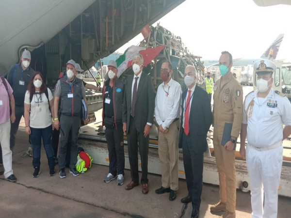 Shipment of an oxygen production plant & 20 ventilators arrives from Italy(Photo/Credit: Twitter/ @MEAIndia)