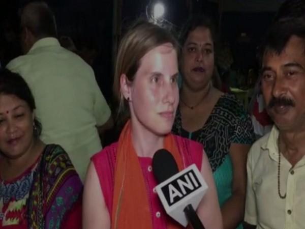 Ivana Allen speaking to ANI in Meerut, Uttar Pradesh.