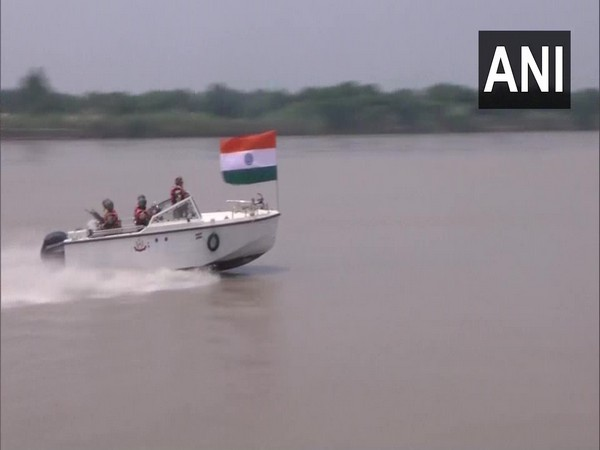 BSF jawans intensified patrolling on well-equipped boats. (Photo/ANI