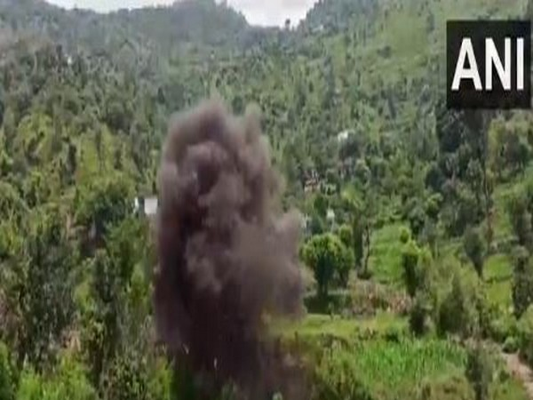 Visual of the live Pak bomb destroyed by Indian Army's bomb disposal squad on Tuesday. (Photo/ANI)