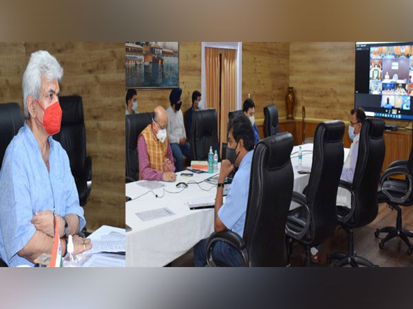J-K LG in meetings with the COVID Task Force. (Photo/ANI)