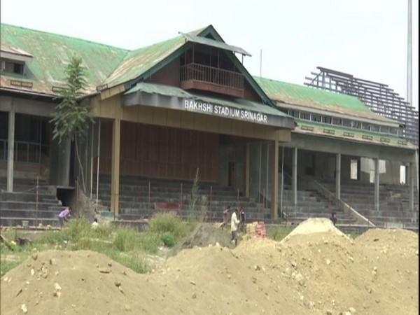 Construction of Bakshi stadium in Srinagar is underway. (Photo/ANI)