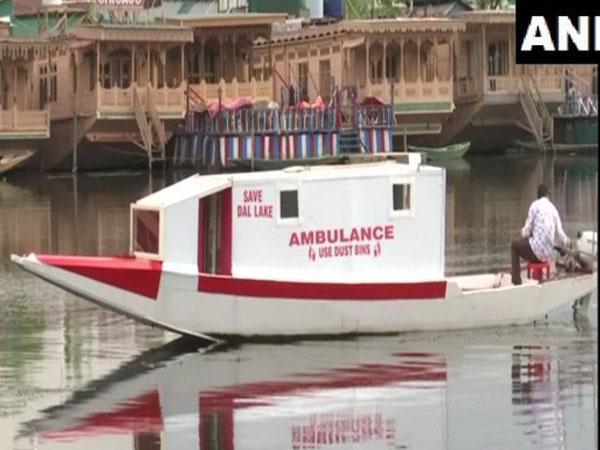 Floating ambulance by Tariq Ahmad Patloo in J-K's Srinagar