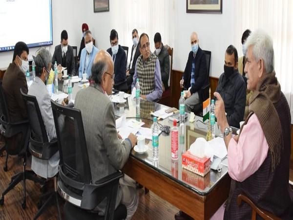 Jammu and Kashmir Lieutenant Governor, Manoj Sinha during a programme in Srinagar on Monday.