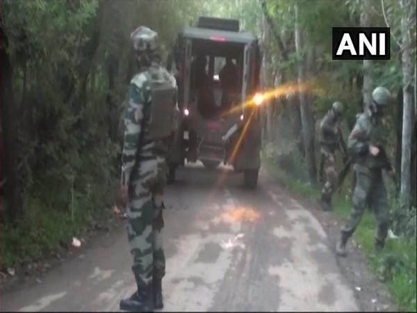 Exchange of fire underway between terrorists and security forces in Pandoshan village.