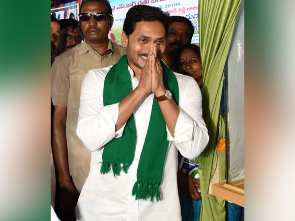 Chief Minister Jaganmohan Reddy during the event in Nellore on Tuesday. Photo/ANI