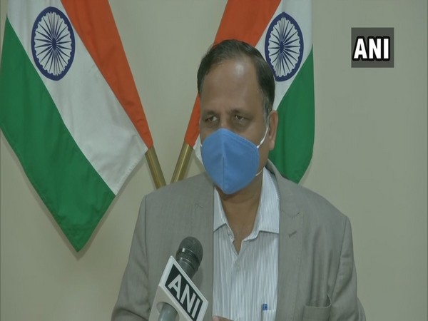 Delhi Health Minister Satyendar Jain speaking to ANI on Thursday.