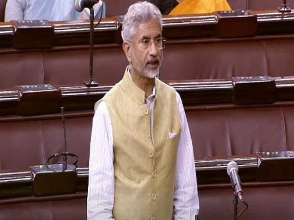 External Affairs Minister S Jaishankar after his statement regarding 'India's Vaccine Maitri Initiative' in the Rajya Sabha today.