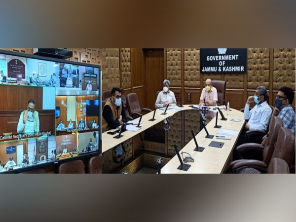 Visual of the meeting chaired by the Chief Secretary of Jammu and Kashmir (Photo/ANI)