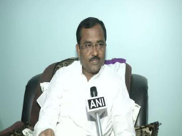 JDU Minister Raj Kumar Rai speaking to ANI in Patna on Tuesday. Photo/ANI