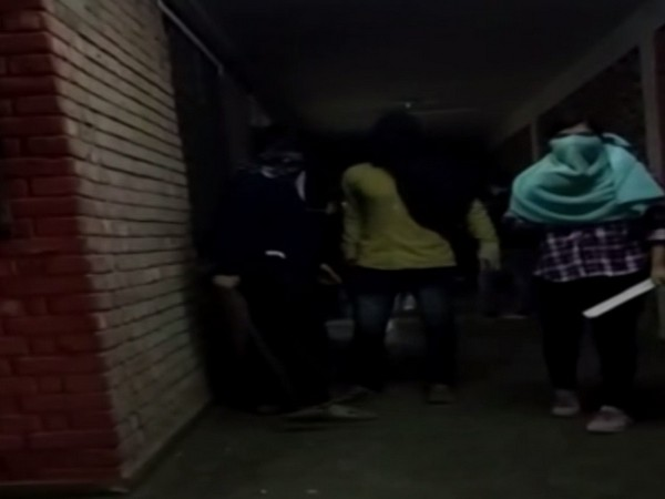 In the video of the incident, a group of goons with their faces covered can be seen assaulting students with wooden sticks and rods.