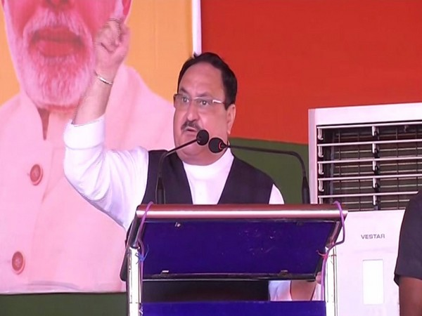 BJP national president JP Nadda addressing a press conference in Sonpur on Saturday. Photo/ANI