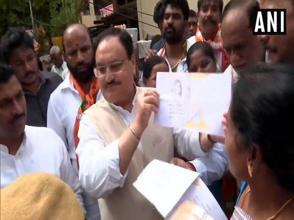 JP Nadda holds door to door campaign for party's membership drive