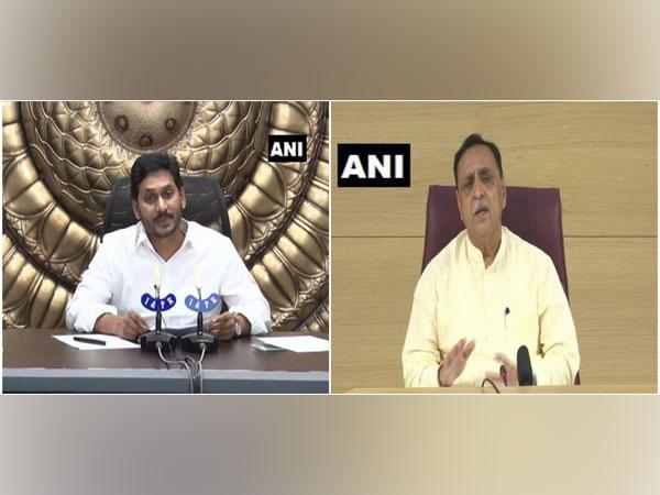Andhra Pradesh Chief Minister YS Jagan Mohan Reddy (left), Gujarat Chief Minister Vijay Rupani (right)