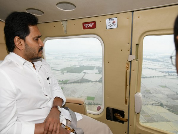 Andhra Pradesh Chief Minister YS Jaganmohan Reddy conducts aerial survey of cyclone affected areas