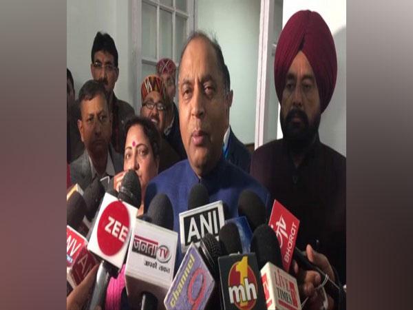 Jai Ram Thakur speaking to media in Shimla on Tuesday