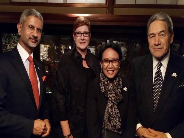 External Affairs Minister S Jaishankar with his Australian, Indonesian and New Zealand counterpart (Picture Credits: S Jaishankar/Twitter)