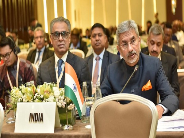 External Affairs Minister S Jaishankar during his address at the NAM Ministerial Meeting in Baku on Wednesday (Source: Twitter account of External Affairs Minister S Jaishankar)