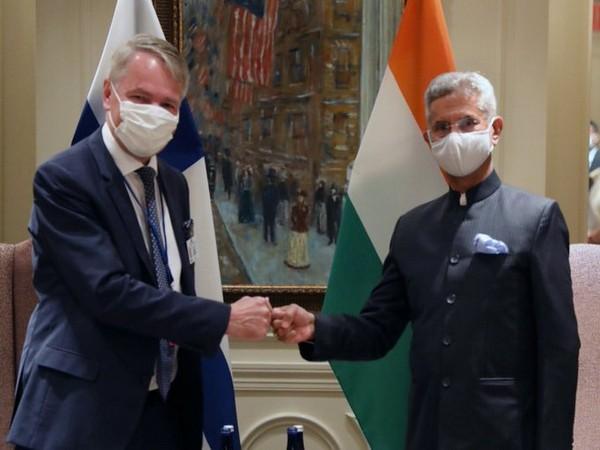 External Affairs Minister (EAM) S Jaishankar on Wednesday met with his Finnish counterpart Pekka Haavisto.