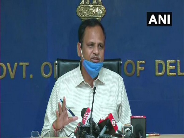 Delhi Power Minister Satyendar Jain at the press conference in New Delhi on Wednesday. (Photo/ANI)