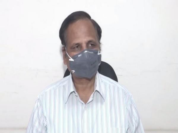 Delhi Health Minister Satyendar Jain during press conference in New Delhi on Sunday. [Photo/ANI]