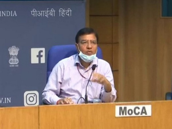 Rajeev Jain, official in Ministry of Civil Aviation addressing a press conference in New Delhi on Thursday. Photo/ANI