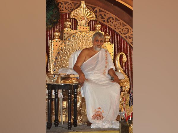 Jainacharya Yugabhushan Suri is seen after coronation as Gachhadhipati, the highest rank of Jain religion