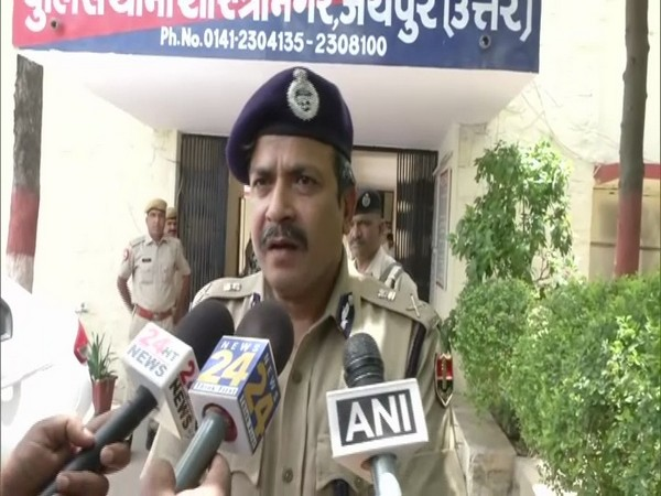 Jaipur Police Commissioner Anand Srivastava speaking to media on Tuesday. (Photo/ANI)