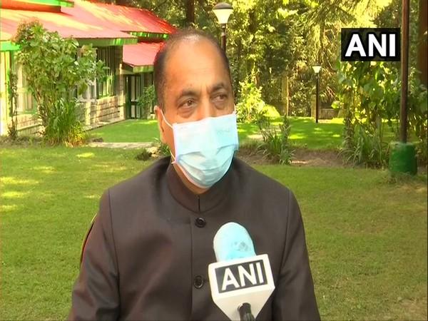 Himachal Pradesh Chief Minister Jairam Thakur speaking to ANI in Manali on Friday. [Photo/ANI]