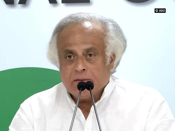 Former Union Minister Jairam Ramesh talking to media persons in New Delhi on Saturday. Photo/ANI
