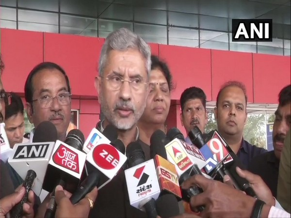 External Affairs Minister S. Jaishankar speaking to the media in Vadodara on Tuesday
