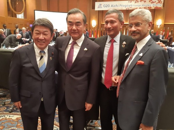 External Affairs Minister S. Jaishankar with the Foreign Ministers of Japan, China and Singapore in Nagoya (Picture Credits: S. Jaishankar/Twitter)
