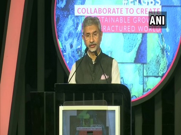 External Affairs Minister S Jaishankar addressing the Global Business Summit on Saturday