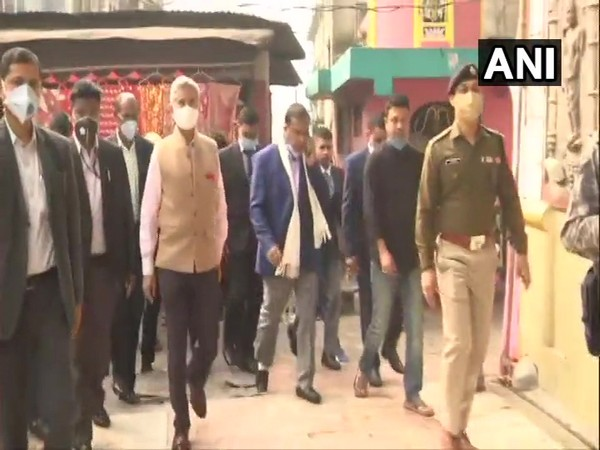 External Affairs Minister Dr S Jaishankar on Sunday visited Kamakhya Temple in Guwahati. (Photo/ANI)