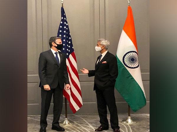 US Secretary of State Antony Blinken with EAM S Jaishankar (Twitter)