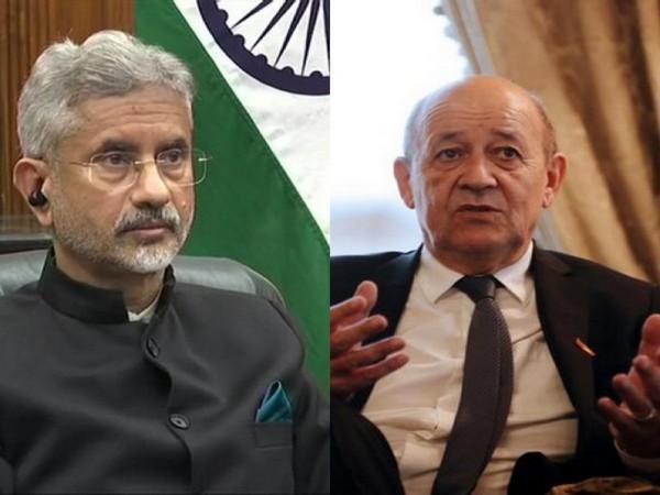 External Affairs Minister S Jaishankar and French counterpart Jean-Yves Le Drian
