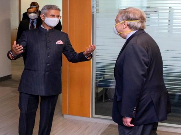 External Affairs Minister, S Jaishankar with United Nations Secretary-General Antonio Guterres (Photo Credit: Twitter)
