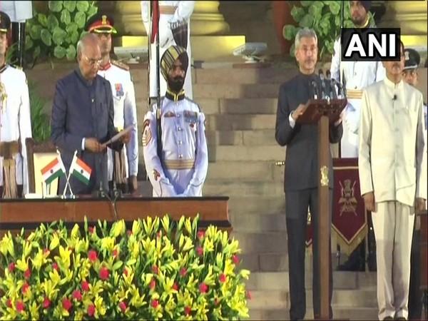 Former Foreign Secretary S Jaishankar on Thursday took oath as Union Cabinet Minister in New Delhi.  Photo/ANI