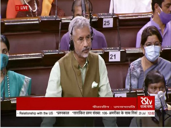 External Affairs Minister (EAM) S Jaishankar speaking during Rajya Sabha session on Thursday.