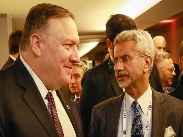 External Affairs Minister S Jaishankar meets US State Secretary Mike Pompeo in Munich (Picture Credits: S. Jaishankar/Twitter)