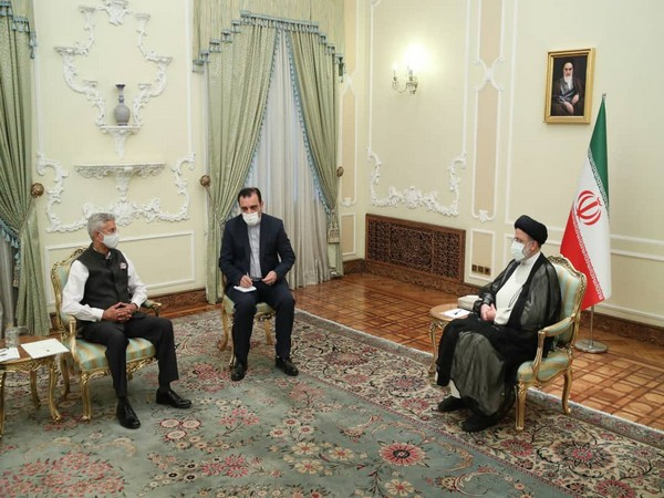 External Affairs Minister (EAM) S Jaishankar on Friday with Iranian President Ebrahim Raisi