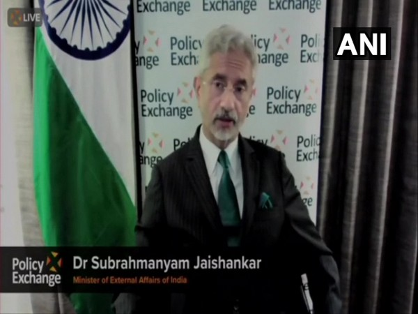 External Affairs Minister S Jaishankar speaking at an event in London (ANI)