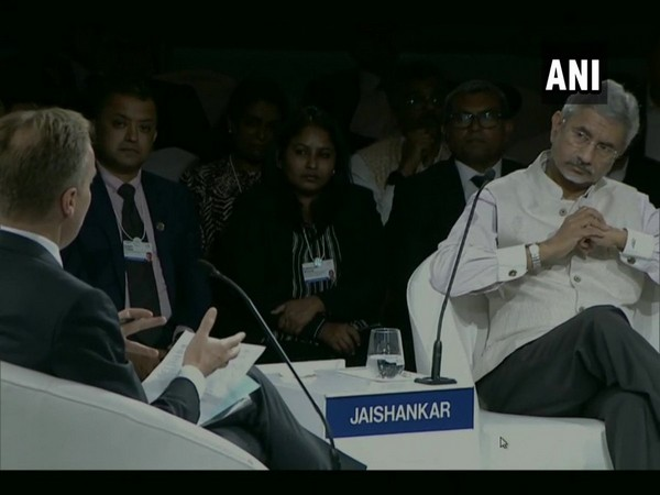 External Affairs Minister S Jaishankar at an interactive session of the World Economic Forum in New Delhi on Friday.