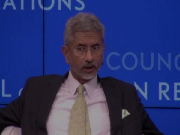 External Affairs Minister S Jaishankar at the 'Council on Foreign Relations' conclave in New York on Wednesday.